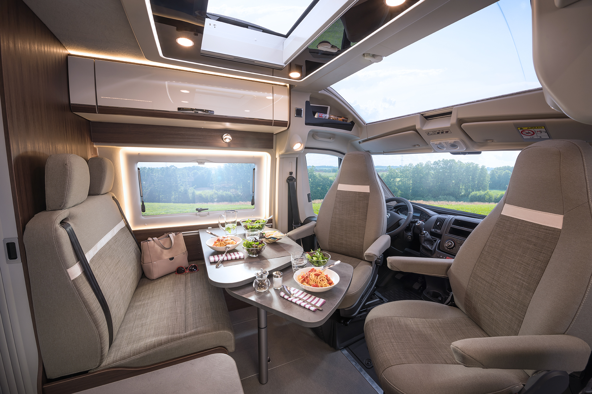 Interior images of the Globecar Summit Prime 600