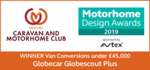 Globecar are winner for van conversions under £45000 in the Motorhome Design Awards 2019